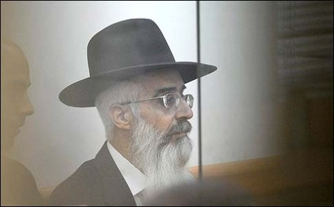 Rabbi Meir Fadida in the courtroom on October 31, 2012.