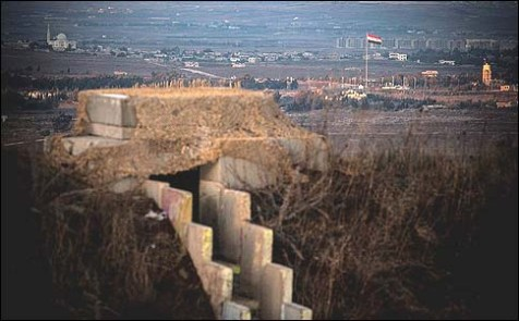 A view of the Syrian town of Quneitra seen from the Israeli Golan Heights. November 12, 2012.