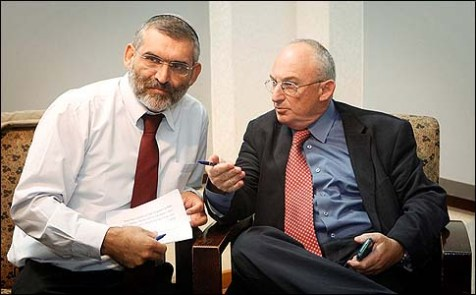 "MKs Aryeh Eldad (R) and Michael Ben Ari of the new party ""Power to Israel."" I will look for less ""reasonable"" politicians to vote into power next time."