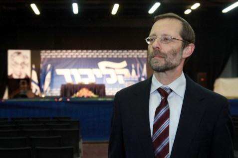 Moshe Feiglin at Likud Primaries
