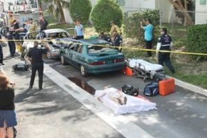 Members of the Miami Beach Fire Rescue Team and Police Department tend to mock accident victims.