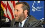 Rabbi Boteach speaking at the Republican Jewish Coalition Convention in Las Vegas, May 2012.