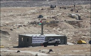The illegal mosque on the slope of Mt. Hebron which the state has been refusing to take down.