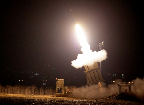 The Iron Dome knocked out a Hamas rocket over Ashkelon Wednesday night