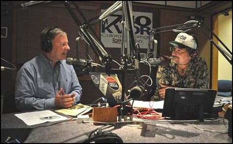 Congressman Doug Lamborn (L) on the Richard Randall Show. Lamborn is concerned about the Administration's backtracking on both Iran and the PA.