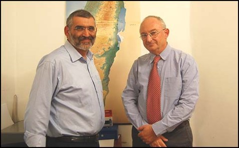 The author, MK Aryeh Eldad (R) and his partner at Power to Israel, MK Michael Ben Ari.