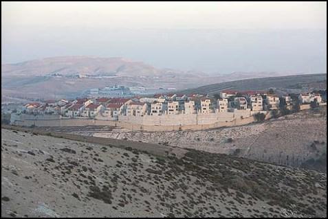 Maaleh Adumim, across from E1, near Jerusalem, December 2, 2012.