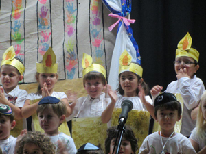 Students perform at annual Chanukah festival.