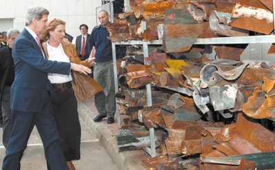 Senator John Kerry, nominated by President Obama to succeed Hillary Clinton as secretary of state, accompanied then-Israeli foreign minister Tzipi Livni on a visit to a police station in Sderot in 2009. They viewed the remains of rockets launched at Israel from Gaza.