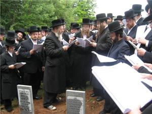 Matzeivos being erected in Liberty