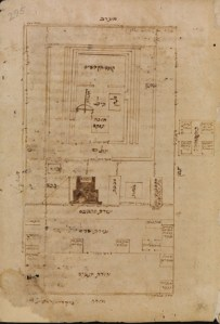 Rambam, Commentary on the Mishnah, Temple diagram Courtesy Bodleian Library & Jewish Museum