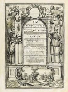 Herlingen Haggadah 1730, written and illustrated by Aaron Wolff Herlingen