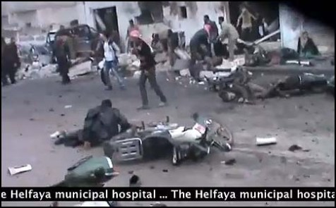 Aftermath of previous bmb blast in Syria