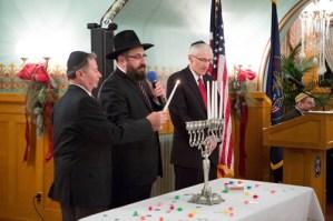 (L-R) Lt. Gov. Greg Bell of Utah; Rabbi Benny Zippel; and former U.S. ambassador John Price.