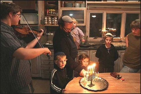Bringing a Fiddle to a Menorah Lighting
