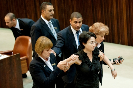 MK Haneen Zoabi, previously  ejected from the Knesset earlier, soon may become a member of jail.