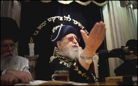 Rav Ovadia Yosef speaking out against Jewish Home.