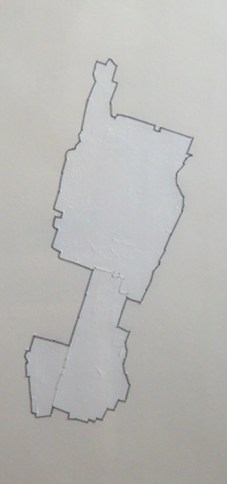 Manhattan Three Times (2007 – 2011), acrylic & thread on paper by Ben Schachter Courtesy Yeshiva University Museum