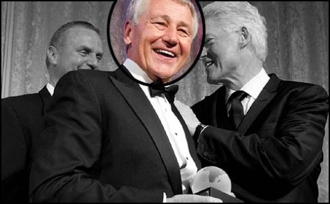 Chuck Hagel with friends.