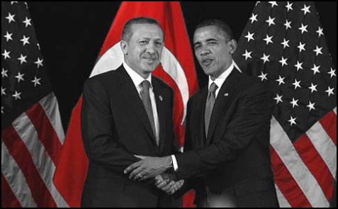 Turkish Prime Minister Recep Tayyip Erdogan with a friend.