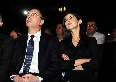 Minister of Education Gideon Sa'ar and his girl friend Geula Even.