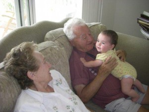 Great-Grandparents Bernath get some sweet time