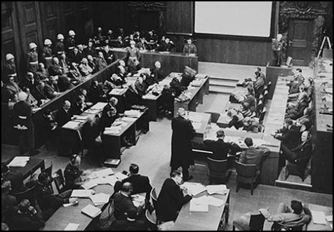 The courtroom of the International Military Tribunal, Nürnberg, 1946-1947.