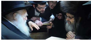 Rabbi Chaim Kanievsky (left) and the Satmar Rebbe