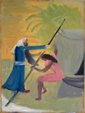 Judah and Tamar (2012) 40 x 30 oil on canvas by John BradfordCourtesy the artist