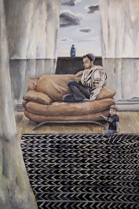 Sunday Morning in the Tent of Abraham  (36 x 24), Oil on canvas by Elke Reva Sudin,