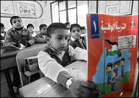 School children learning in the Palestinian Authority learn to hate Israel as part of the curriculum. New textbooks in Tennessee may be subtly sending the same message, charges a watchdog group.