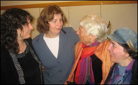 (left to right) Reform Rabbis Pamela Frydman, Anat Hoffman, Shoshana Devorah and Cheryl Birkner Mack, of Women of the Wall.