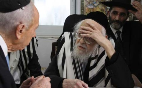 The late Rabbi Yosef Shalom Eliashiv on October 08, 2009, about three years before his death.