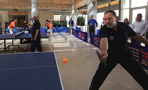 Former Israeli Foreign Minister Avigdor Lieberman played table tennis during a tournament held at the foreign ministry in Jerusalem back in 2010.