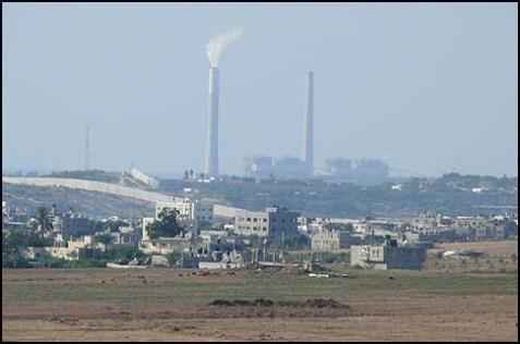 The Rutenberg power plant, near Ashkelon, Israel.