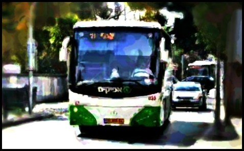 Afikim bus in Israel