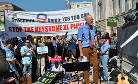 Rally against the the Keystone XL pipeline