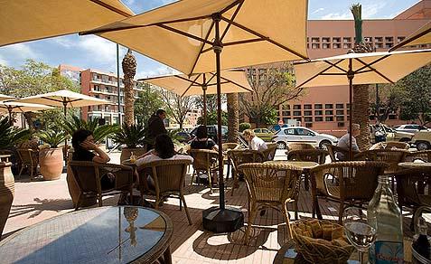 Cafe de la Poste, Gueliz, Marrakech, Morocco.