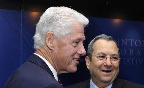 Lobbyist Bill Clinton and Israeli lobbyist Ehud Barak, 2010.