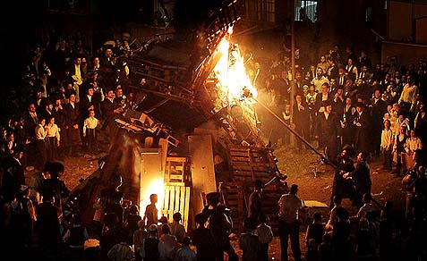Lag Baomer in the Haredi neighborhood of Meah Shearim.