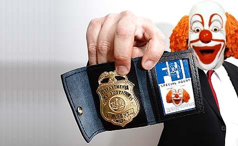 FBI agent with badge