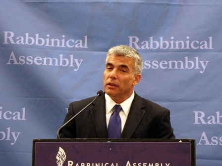 Yair Lapid, listed by TIME as one of the world's 100 most influential people