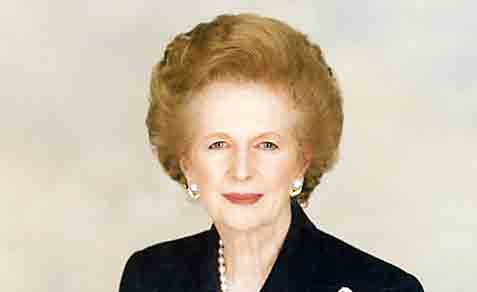 The late Prime Minister Margaret Thatcher.