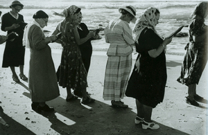 Tashlich Women at the Edge of the Sea (1954) Photograph by David Seymour.  © Chim (David Seymour)/ Magnum Photos