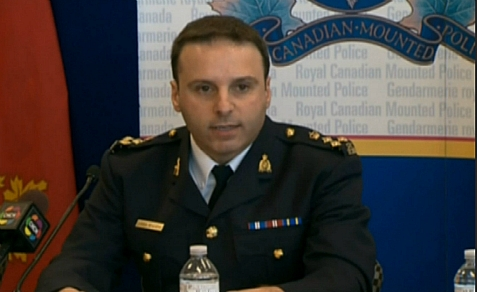 Spokesperson of Royal Canadian Mounted Police at press conference on April 22, 2013, announcing arrests of suspected Al Qaeda-linked terrorists.