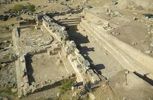 The site excavation.