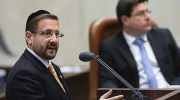 Yesh Atid MK Rabbi Dov Lipman speaking at the plenum hall, March 06, 2013.