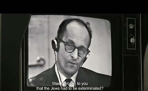 The film uses footage from the actual Eichmann trial.