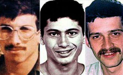 Israeli soldiers Zachary Baumel, Yehuda Katz and Tzvi Feldman
