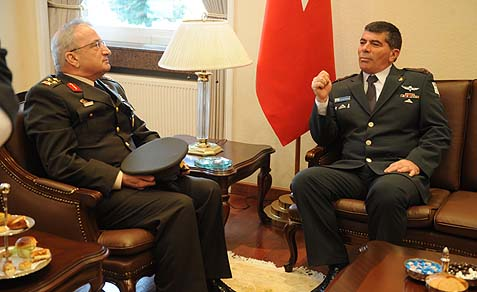 Only 3 years ago: GOC Ankara Command, Gen. Mehmet Emin Elfman, and then IDF Chief of Staff Lt. Gen. Gabi Ashkenazi, meeting in Turkey.